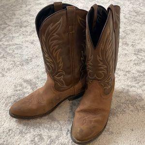 Laredo Brown Western Cowboy Boots